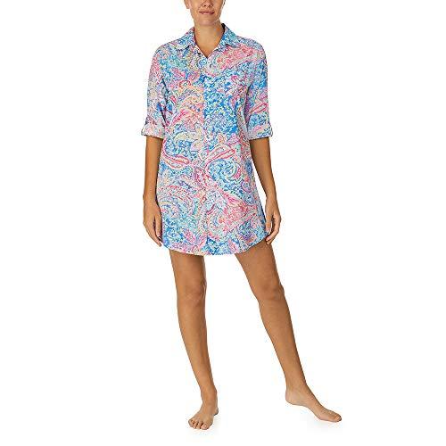 LAUREN HOME Nachthemd durchgeknöpft, IILN32055, Multi Paisley, M