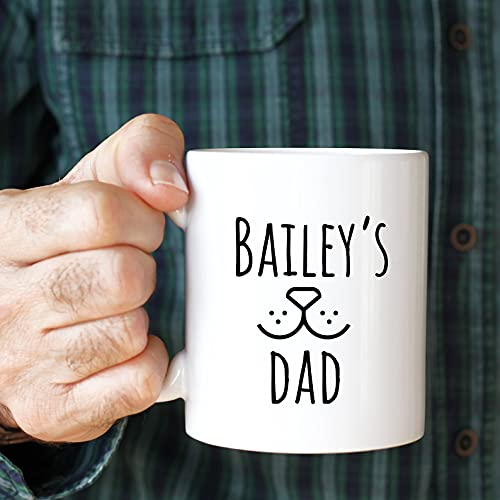 Personalised dog dad mug with a dog name/Father's Day gift/Dog lover...