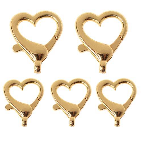 5 unids amor corazón forma langosta hebilla llavero colgante aleación joyería accesorios DIY metal material llavero moda llavero almacenamiento llaves portátiles hombres mujeres