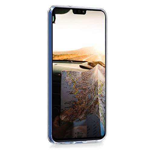 kwmobile Huawei Honor 8X Hülle - Handyhülle für Huawei Honor 8X - Handy Case in Travel Schriftzug Design Schwarz Mehrfarbig Transparent - 2