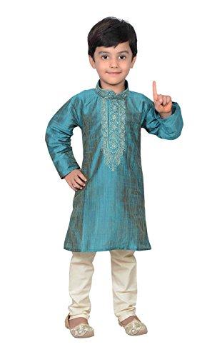 Niños Indios Bollywood Ropa de Moda niños Kurta Pijama Sherwani Pijama 933