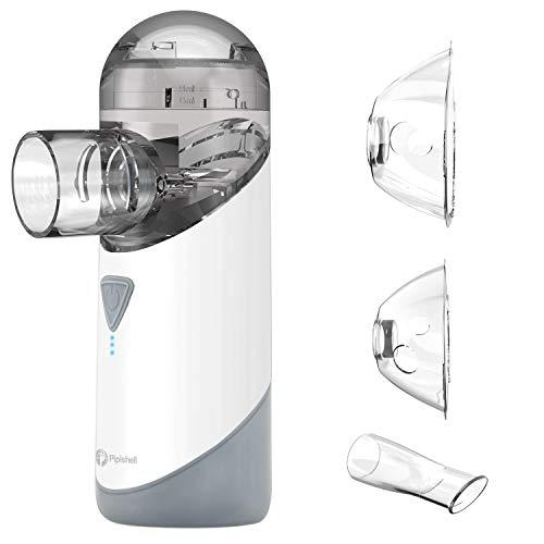 Nebulizador Portatil Inhalador de Malla de bajo ruido - Adecuado para niños y adultos, Sirve para el tratamiento de bronquitis, y otras enfermedades respiratorias-con boquilla y mascarilla