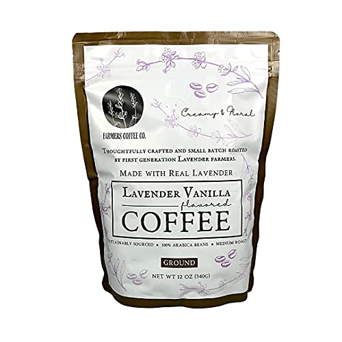 FARMERS Coffee Co. Lavender Vanilla Coffee - All Natural Lavender Coffee