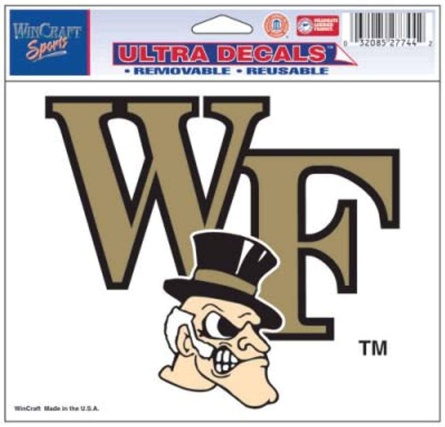 Wake Forest University Ultra decals 5  x 6   colord