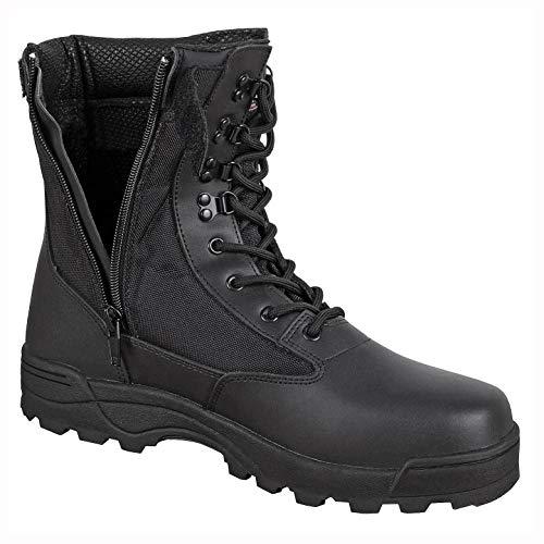 BW-ONLINE-SHOP SWAT Boots Zipper schwarz - 40