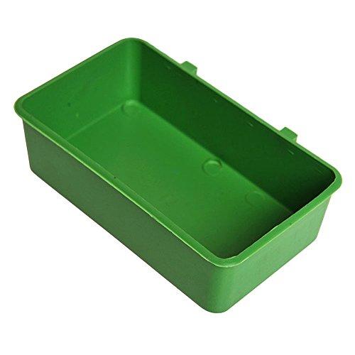 Chen rui Plastique Boîte Mangeoires Abreuvoirs Alimentation Nourriture Eau Baignoire Bain pour Perroquet Oiseau
