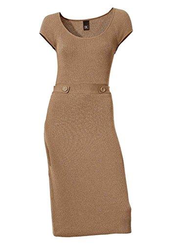 Heine - Best Connections Damen-Kleid Strickkleid Braun Größe 44