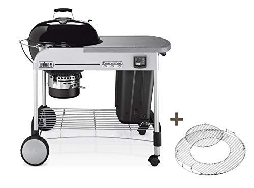 Weber 1431504 Performer Premium Gourmet Barbecue à Charbon Noir 57 cm