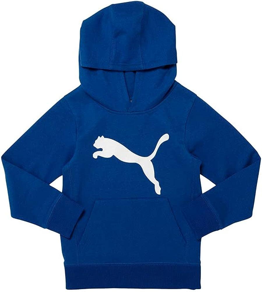 Puma Kids Boys Cat Hoody Cotton Fleece Hoodie Hoodie Hood - Blue