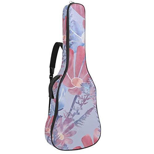 Tizorax Tasche für Akustikgitarre mit Flamingo- und Einhorn-Pool Floats mit Palmen-Druck,...