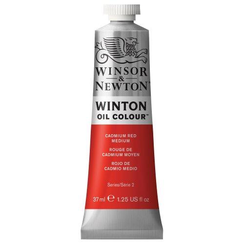 Winsor & Newton 1414099 Winton Oil Color Paint, 37-ml Tube, Cadmium Red Medium
