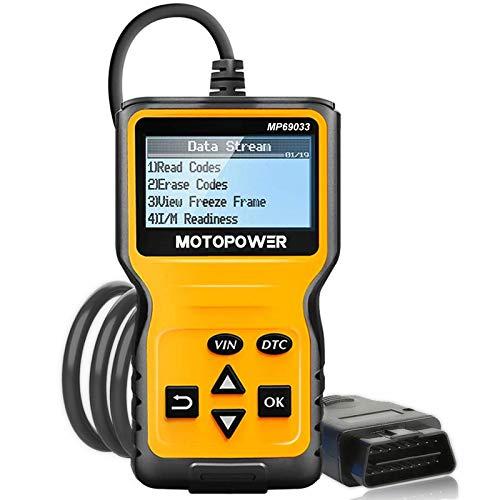 MOTOPOWER MP69033 OBD2 Scanner Universal-Kfz-Motor-Fehlercode-Lesegerät, CAN-Diagnose-Scan-Tool für alle OBD II-Protokoll-Fahrzeuge seit 1996