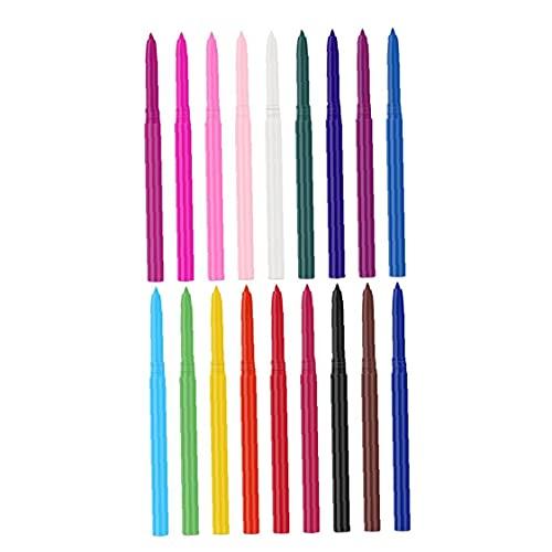 Lápiz delineador de ojos 18 colores Impermeable Eye Liner Set Makeup Pen para las mujeres 18pcs, delineador de ojos