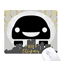 笑顔のfaceenergy車両環境を保護する クリスマスイブのゴムマウスパッド