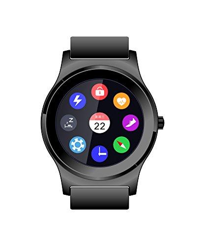 LESHP Smart Fitness Tracker Horloge met Touch Screen Draagbare Smart Band voor Sport & Gezondheid Activiteit Tracking - Zwart (bruin)