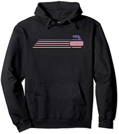 USA Team Curling Jersey Vintage Winter Sports Lover Gifts Pullover Hoodie product image