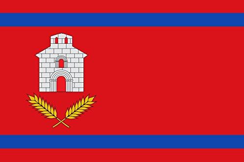 magFlags Bandera XL Chalamera-Huesca Paño Rojo de proporción 2/3, con Dos Franjas horizontales | Bandera Paisaje | 2.16m² | 120x180cm