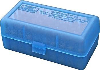 MTM 50 Round Flip-Top Rifle Ammo Box WSM 45-70  Clear Blue
