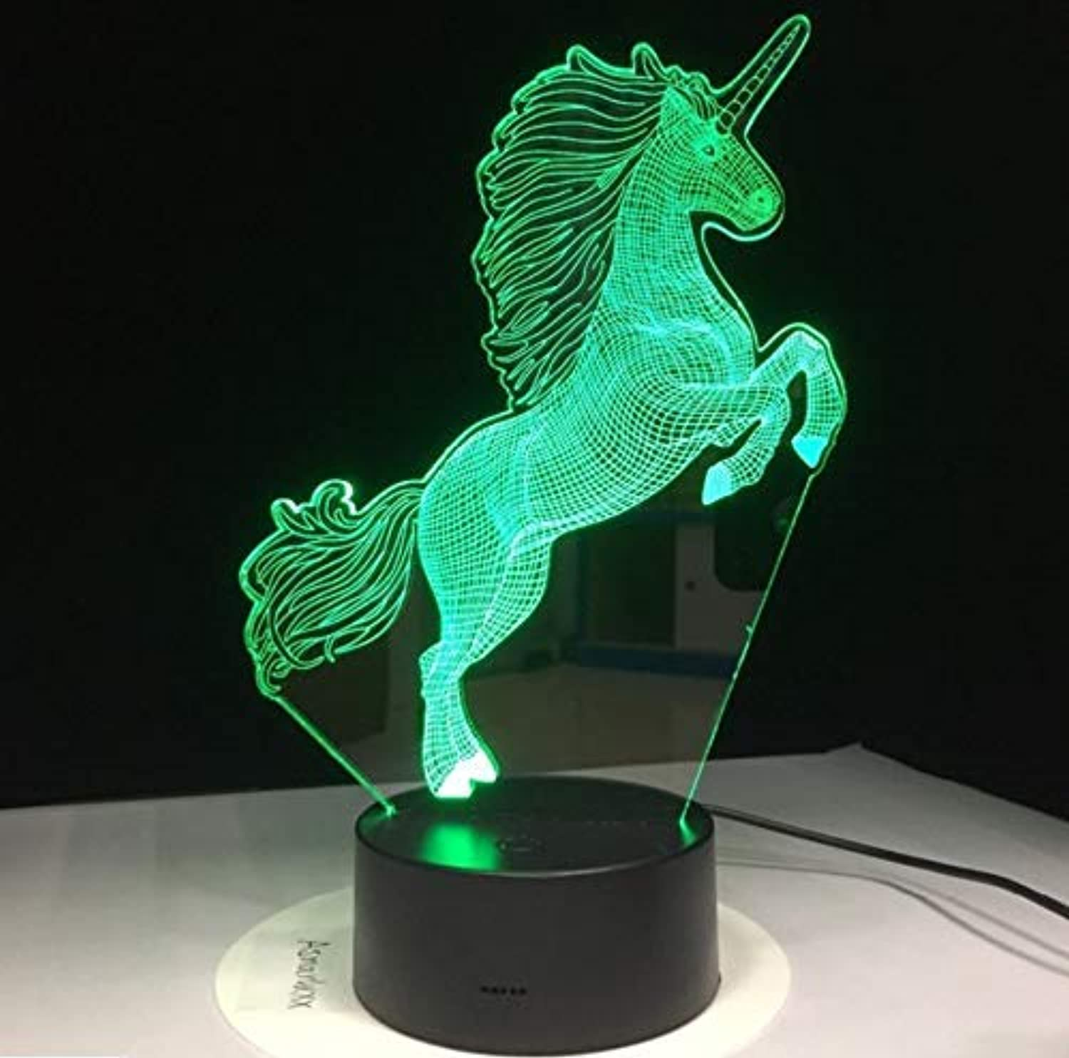 BMY Night Lights for Kids Unicorn Beside Lamp 7 colors Change with Remote Control Kids Night Light Optical Illusion As A Gift Ideas