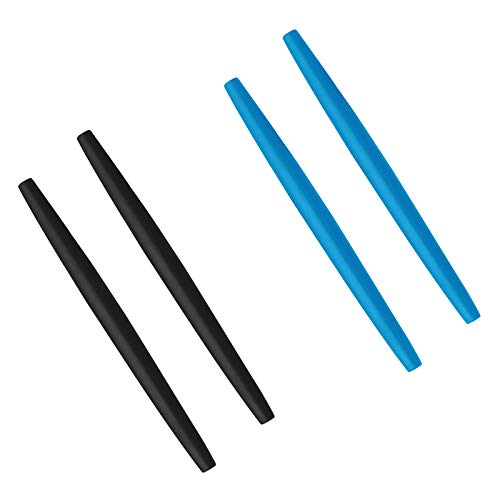 BlazerBuck Calcetines de repuesto para Oakley Glass OX3024 OX3085 OX3144 OX5055 OX5113 OX5120 OX3133 - negro + azul claro