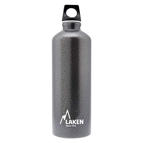 Laken Futura Botella de Agua, Cantimplora de Aluminio Boca Estrecha 1,5L, Gris