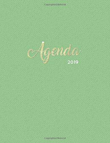 Agenda 2019: Semanal Diario Organizador Calendario - Verde Y Oro: 6