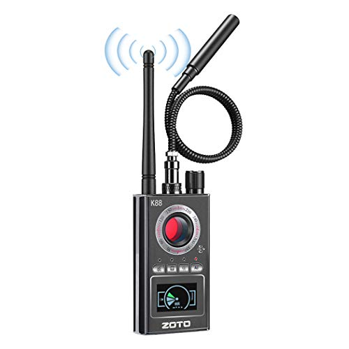 Detector de Antiespía, ZOTO Detector de RF Inalámbrico Antiespía, Localizador GPS, Detector de Cámara Oculta, Dispositivo GSM Multifuncional, Escáner de Radio, Alarma de Señal Inalámbrica