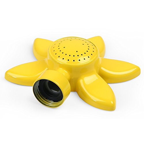 glorden Flower Design Circular Spot Sprinkler with Gentle Water Flow for Kids and Lawn Small