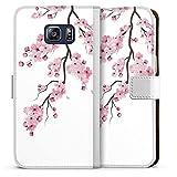DeinDesign Etui Compatible avec Samsung Galaxy S6 Edge Plus Etui Folio Etui magnetique Fleurs de...