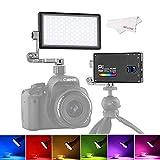 BOLING BL-P1 RGB LED Video Light 2500k-8500k Bi-Color Pocket Size On Camera Light with 9 Applicable...