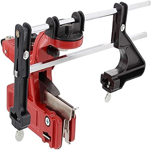 Kit de afilador de cadena, guía precisa para limar motosierra, con ajustes de dial, herramienta de afilado de cadena de sierra montada