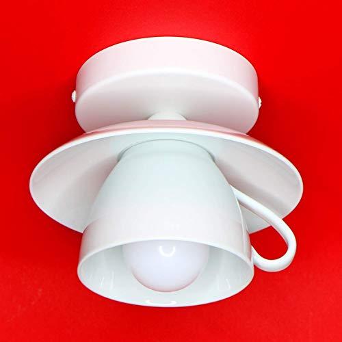 Große Tassenlampe, Lampe aus Jumbo-Tasse, Geschirrlampe, Küchenlampe, Boho Deckenlampe aus Geschirr