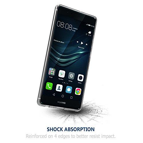 Simpeak Hülle Kompatibel mit Huawei P9 Plus [2 Pcs], Schutzhülle Kompatibel für Huawei P9 Plus Silikon Transparent - 6
