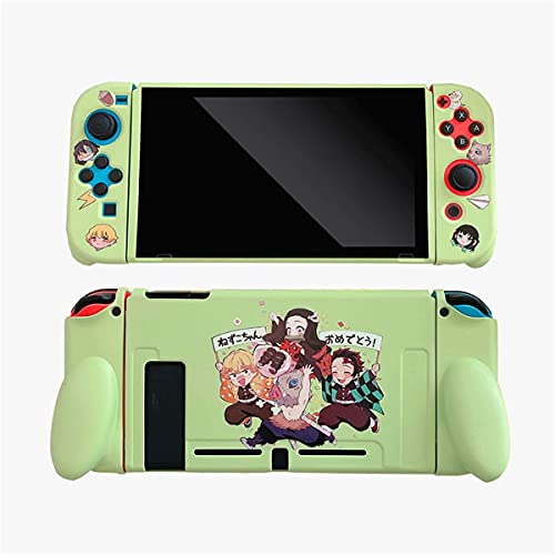 Protective Case for Switch, Cartoons Anime Cute Soft TPU Case Cover for Handheld Video Game Controller for Nintendo Switch - (Demon Slayer Blade Collection)