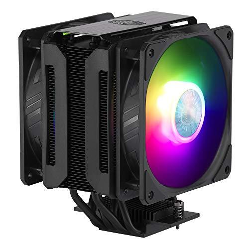 Cooler Master MasterAir MA612 Stealth ARGB, enfriador de CPU con 2 ventiladores RGB direccionables de 120 mm, negro