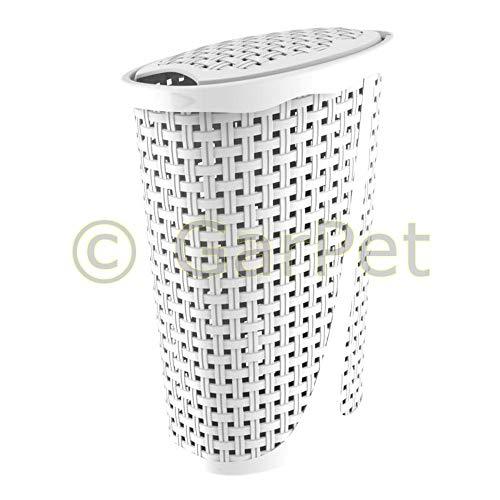Bama Spa Wäschebox Wäschesammler Wäschekorb Wäschebehälter Wäschetruhe Rattan Optik 60 cm