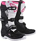 Alpinestars Womens Stella Tech 3 Motocross Boot, Black/White/Pink, 7