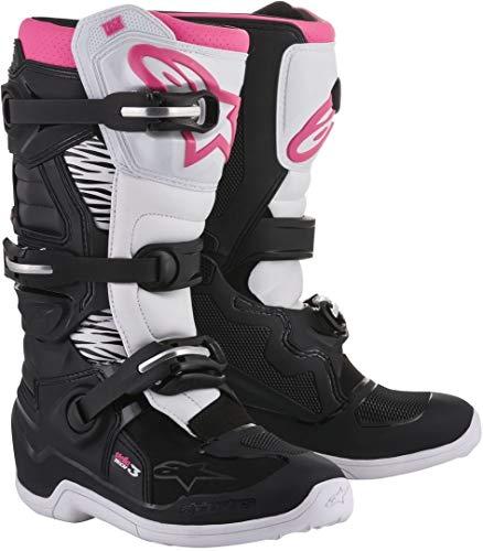 Alpinestars Unisex-Erwachsene Tech 3 Stella Stiefel, Schwarz/Weiß/Pink, Größe 09 (Mehrfarbig, Einheitsgröße)