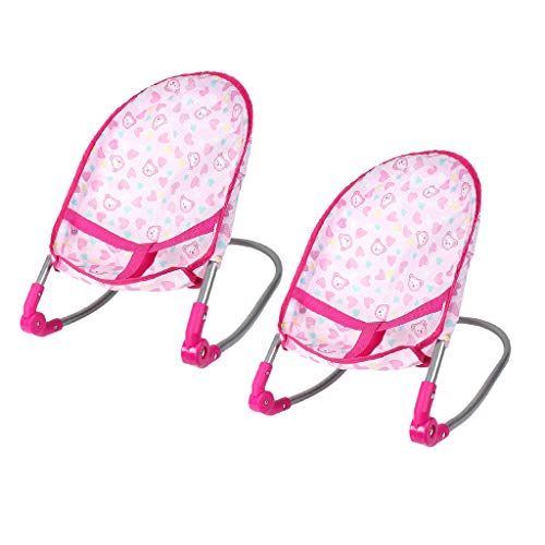 harayaa 2Pcs Newborn Baby Doll Bouncer Rockers Rocking Chair for