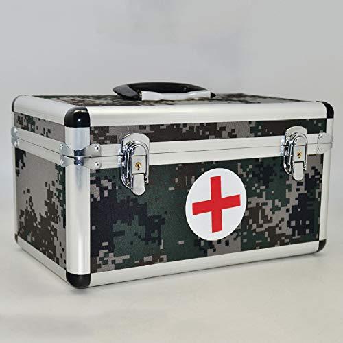 QXTT Alu Medizinkoffer Erste Hilfe Koffer Tragegriff Hausapotheke Box Groß Medikamentenbox Medizinschränke Medizinbox Medikamenten Box Aufbewahrungsbox