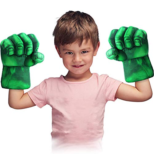 Product Image of the Toydaze Incredible Smash Fists Punching Gloves Plush Hands Green