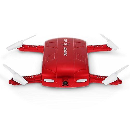 GoolRC Drone Droni con Camera T37 Mini Telecamera Pieghevole Quadcopter 720P HD FPV Drone UAV Controllato Motional con 2 batterie Bonus (T37)