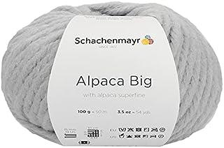 Schachenmayr Alpaca Big Couleur 90 Laine épaisse avec alpaga pour tricot ou crochet Gris