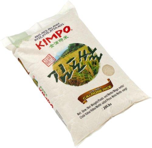Kimpo Calrose Reis / Sushi Reis, 1er Pack (1 x 9.1 kg Packung)