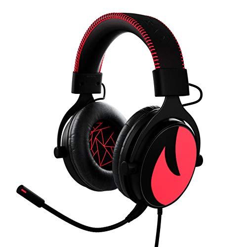 Flamefall Asterion - Auriculares gaming HD 7.1 con drivers de 53mm, micrófono con cancelación de ruido y espuma con efecto memoria (PS4)