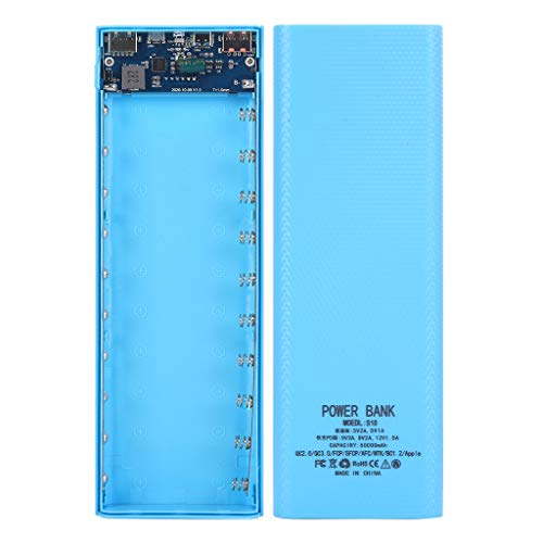 WTALL Pantalla LCD Desmontable de 22,5 W 10x18650 Caja de batería Caja de Carga PowerBank Shell