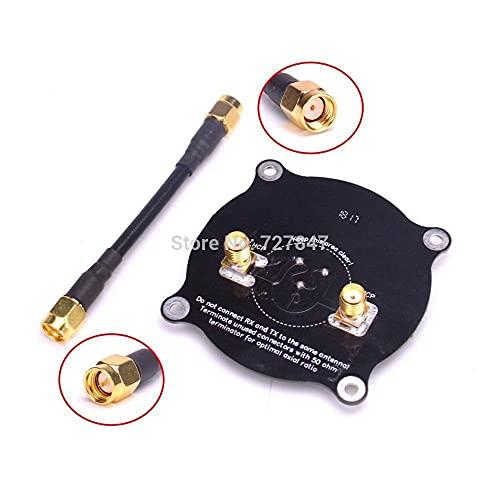 DNKKQ Nuevo 5.8G HZ Triple Feed Patch Antena SMA / RP SMA Antena circularmente polarizada direccional para FPV para Gafas de fatshark para RC para Drone Reemplace dañado ( Color : Antenna RP SMA )