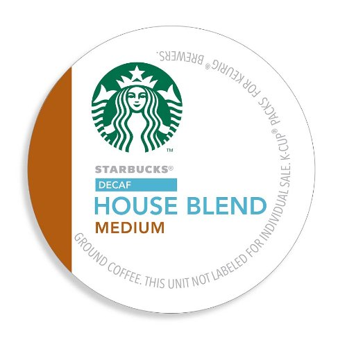 Starbucks Decaf House Blend Coffee K-Cups, 96 Count
