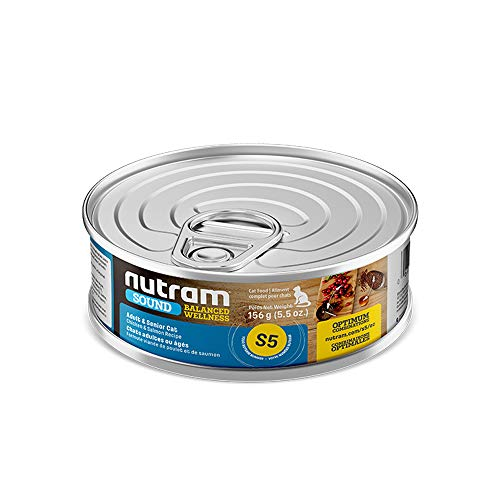 Nutram Cat Adult / Senior Cans Chicken and Salmon 24x156gm