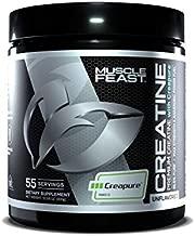 Muscle Feast Creapure Creatine Monohydrate Powder | 5400Mg of Premium 100% Pure German Creatine Per Serving | Vegan, Keto, Gluten Free | Unflavored - 55 Servings